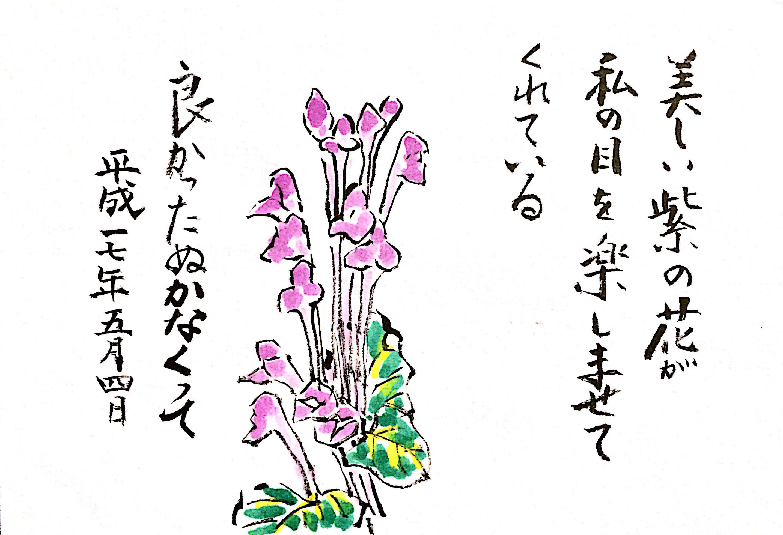 美しい紫の花が私の目を楽しませてくれている 良かったぬかなくって