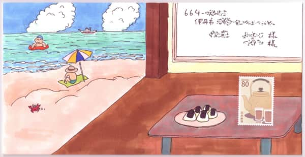海の家の絵封筒