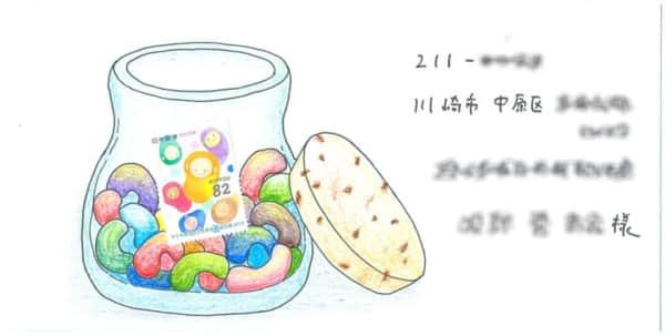 キャンディーの塗り絵封筒