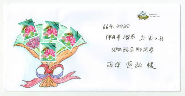 お祝いにレンゲソウの花束