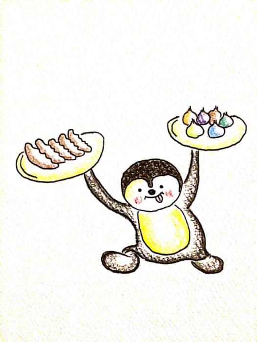 ペンギンと飲茶