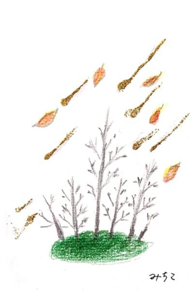 木枯らしと枯れ木 二枚目