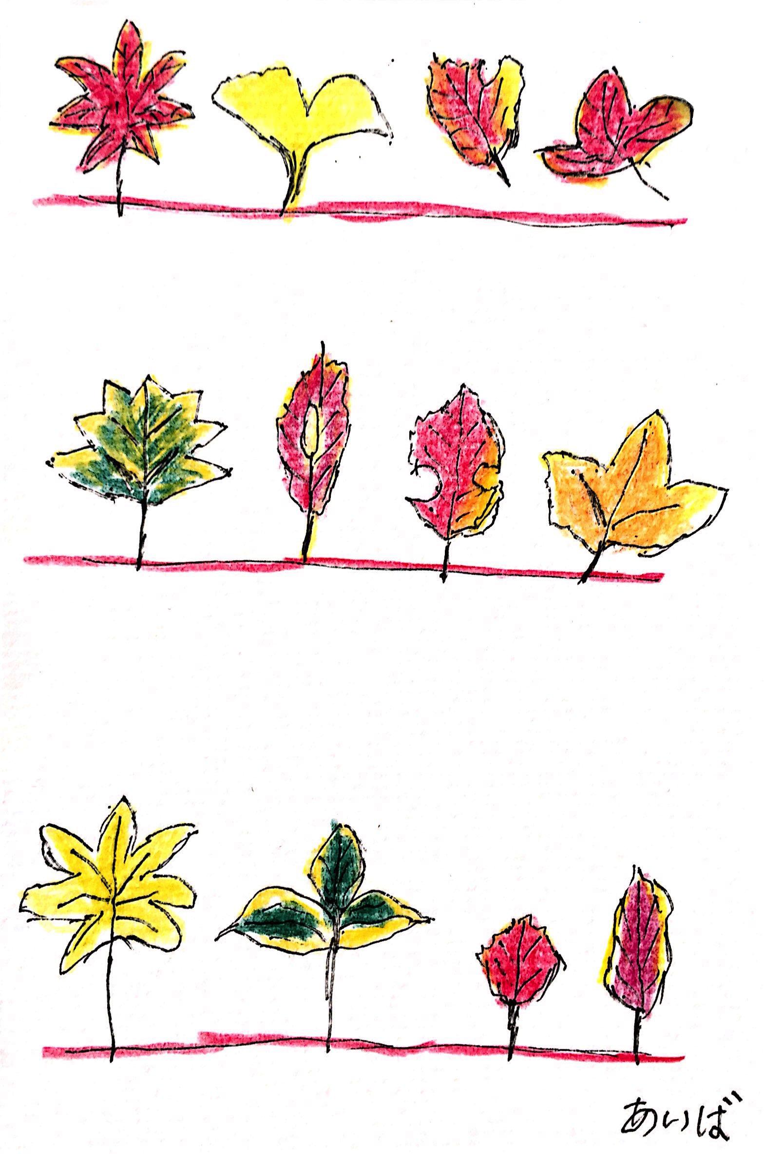秋冬を彩る枯れ葉たち 三枚目