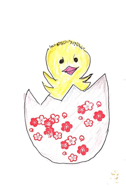 卵から生まれたひよこちゃん^^