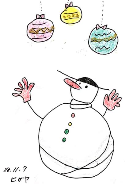 雪だるまのクリスマスカード 7枚目