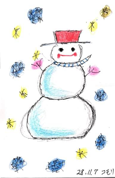 雪だるまのクリスマスカード 8枚目