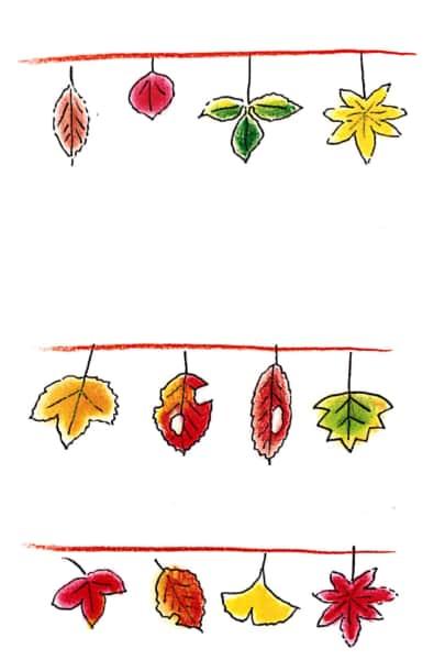 秋冬を彩る枯れ葉たち お手本