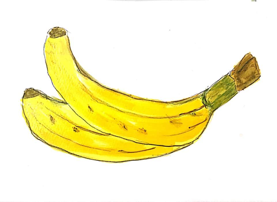 シンプルに、バナナ。
