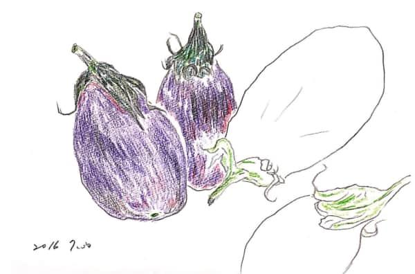 茄子たちの塗り絵
