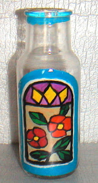 空き瓶アート 〜ステンドグラス〜