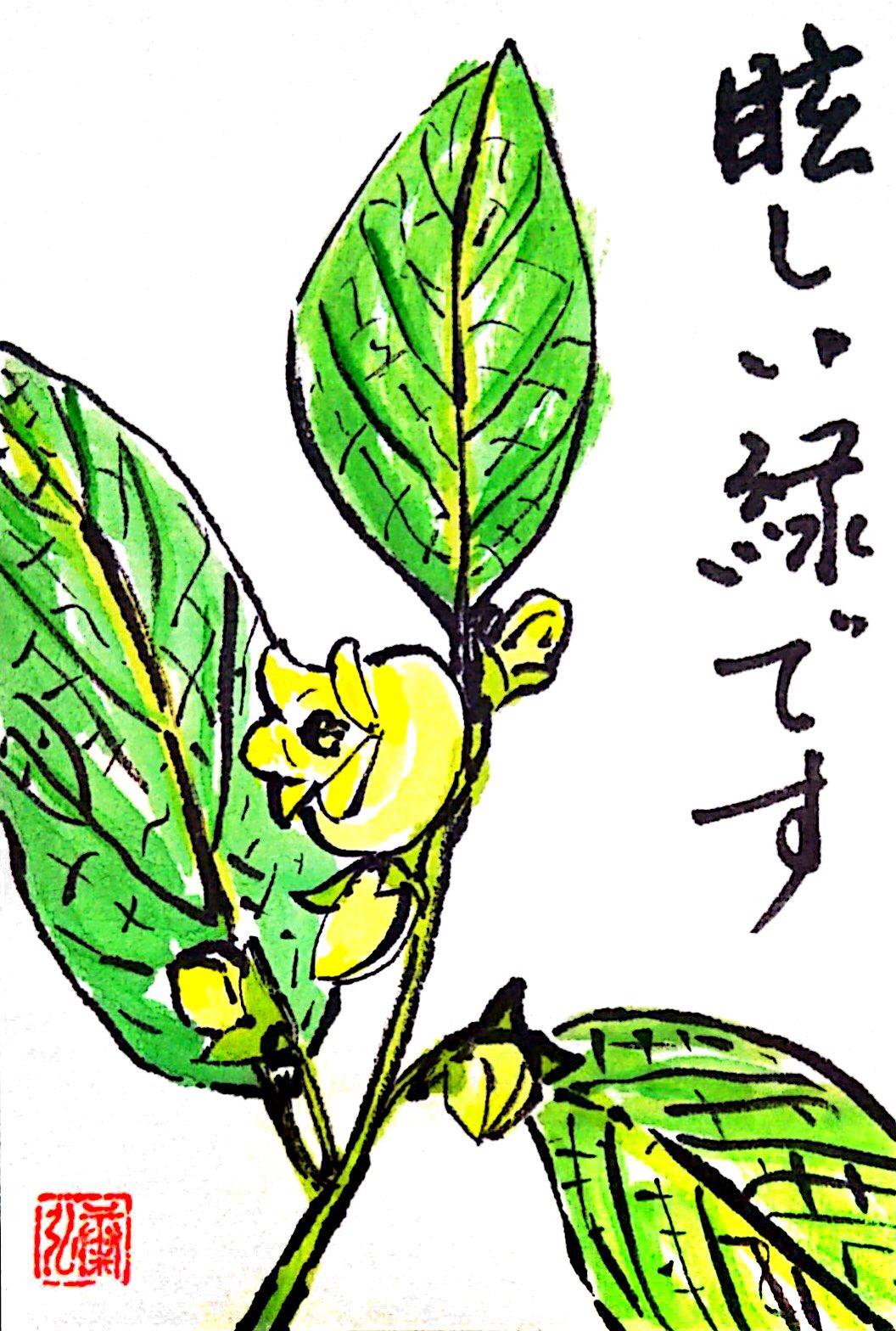 春の柿の実