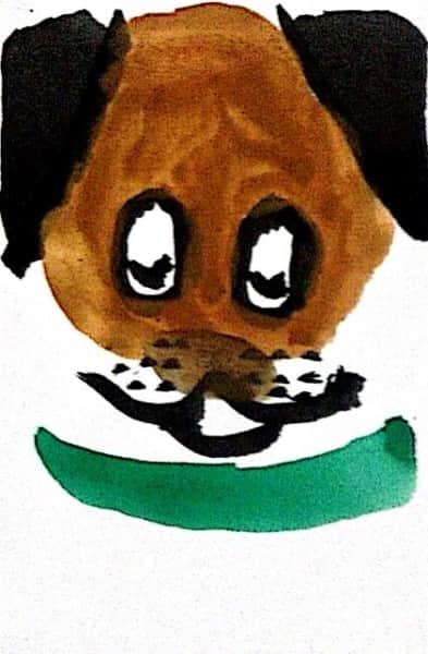 墨彩画「犬」