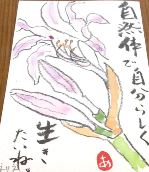 自然体で自分らしく生きたいね。 〜百合の花〜