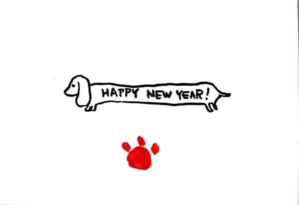 HAPPY NEW YEAR! 〜かわいいダックスフントの年賀状〜