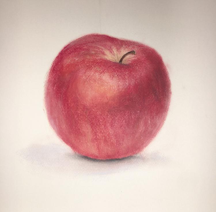 りんごを描きました