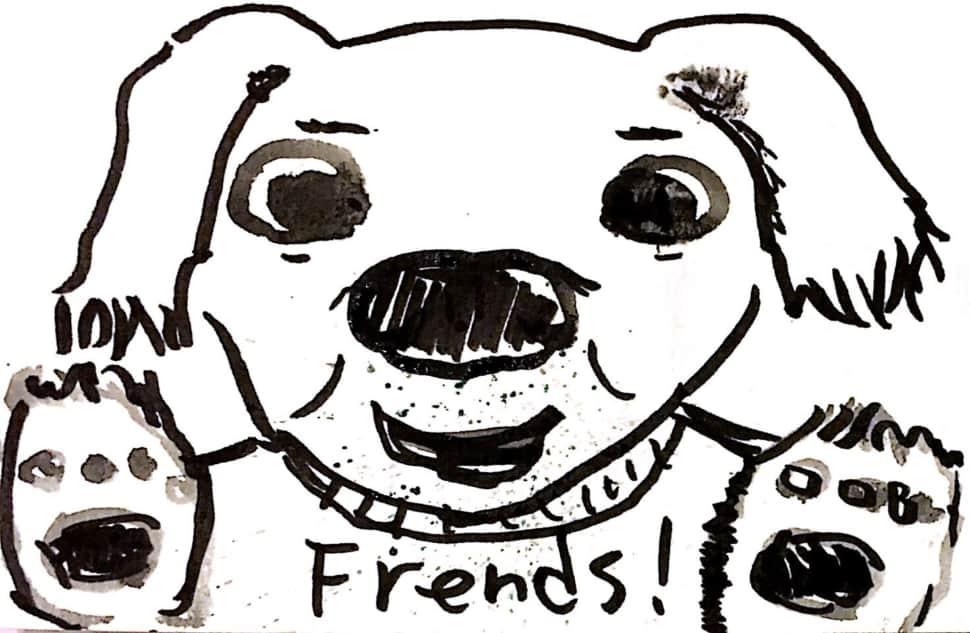 犬は友達!