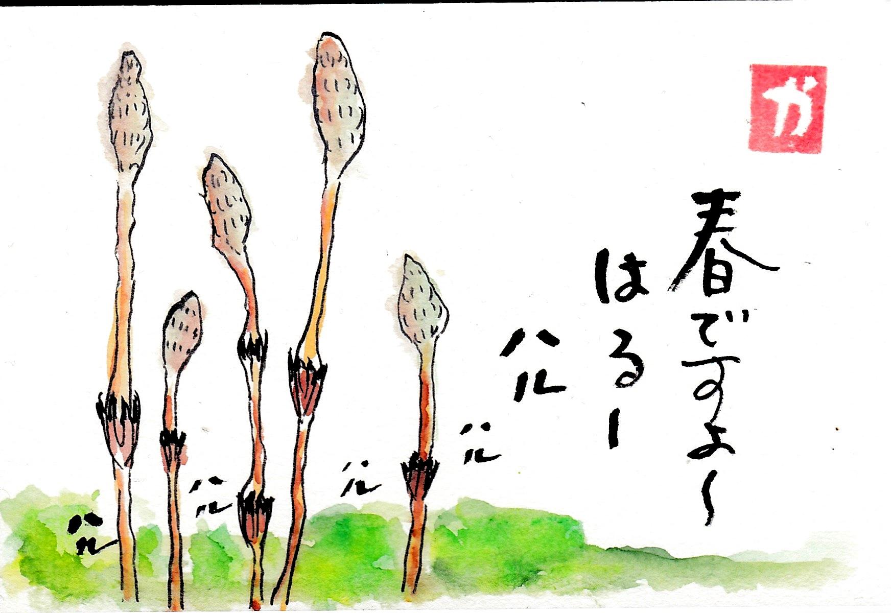 春ですよ〜つくし〜