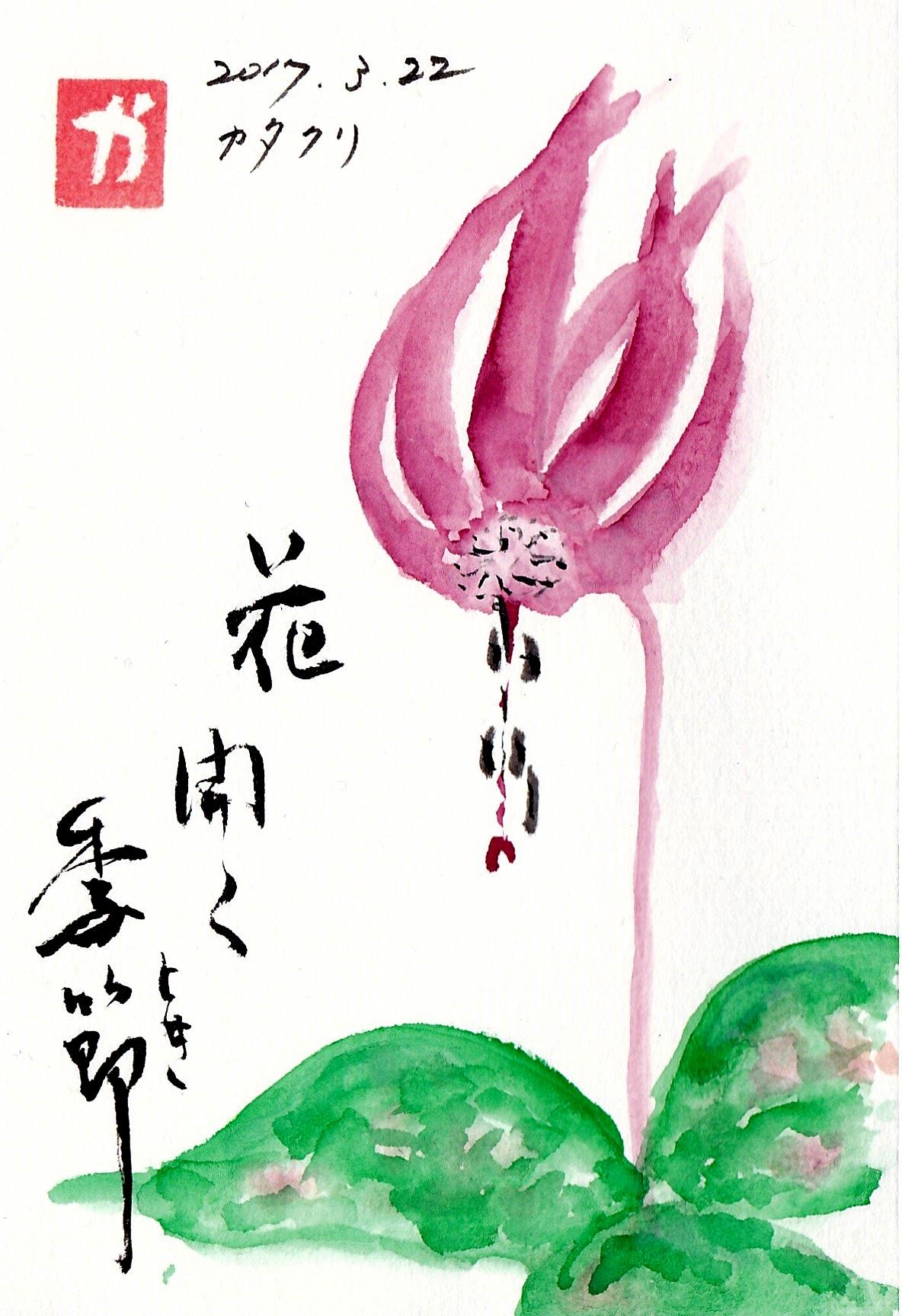 花開く季節〜カタクリ〜