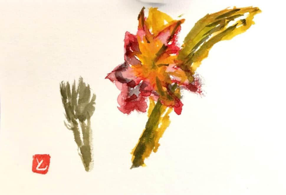 赤や黄色、温かい色の花