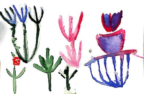 色とりどりの草花