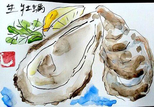 おいしそうな生牡蠣