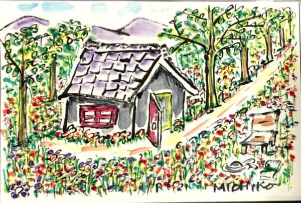 森の中の家