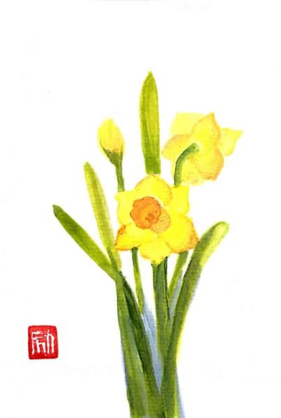 黄色の水仙の花