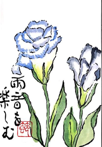 雨音を楽しむ 〜トルコキキョウの花〜