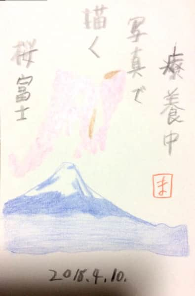 療養中 写真で描く桜富士
