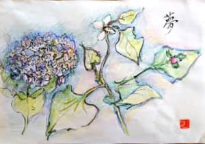 夢 〜紫陽花とドクダミの花〜