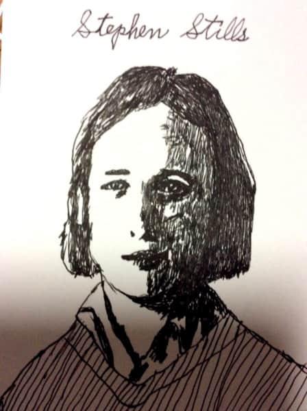 Stephen Stillsの似顔絵