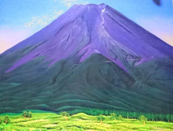 夏の富士山の油絵
