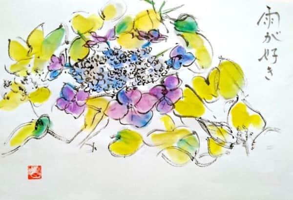 雨が好き 〜メルヘンチックな紫陽花の花〜