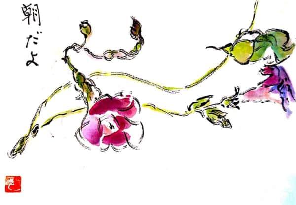 朝だよ 〜朝顔の花〜