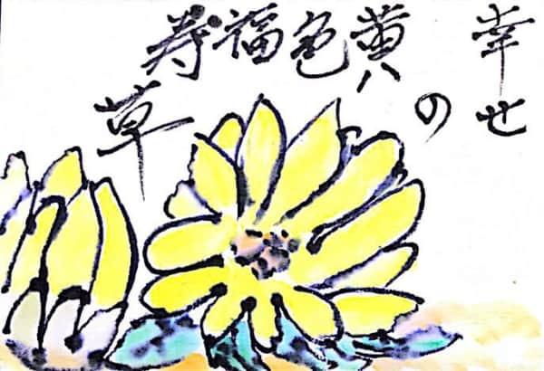 黄色の福寿草の花