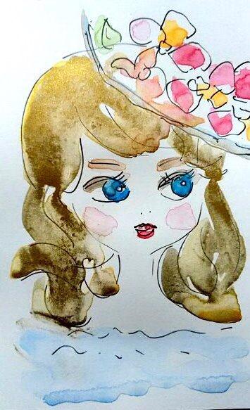 青い目の少女の人形
