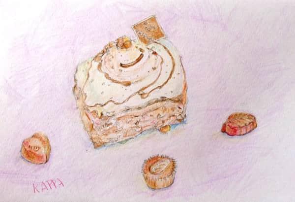 モンブランケーキとチョコレート