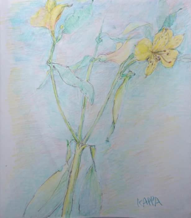 アストロメリアの黄色い花