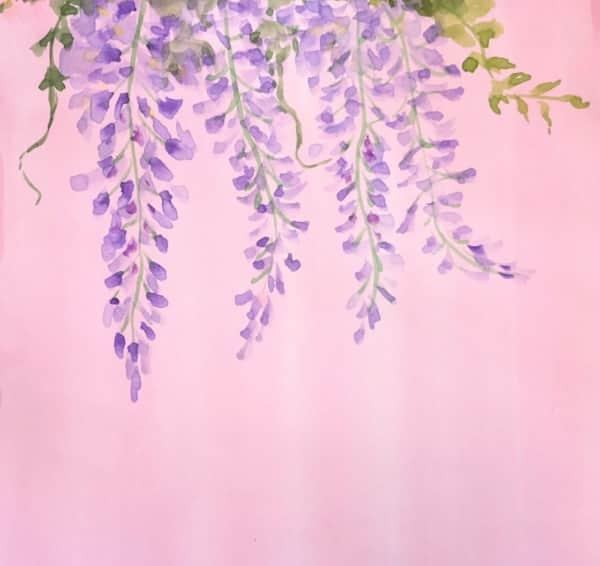 藤棚から垂れる藤の花