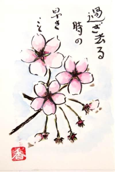 過ぎ去る時の早きこと 〜桜の花〜