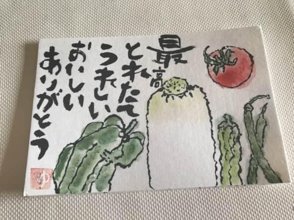 夏野菜の御礼
