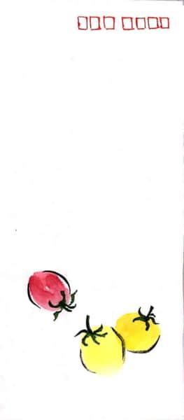 ミニトマトの絵封筒