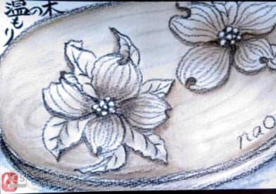 手彫りのトレー