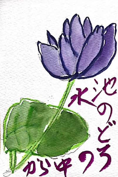 池の泥水の中から 蓮の花