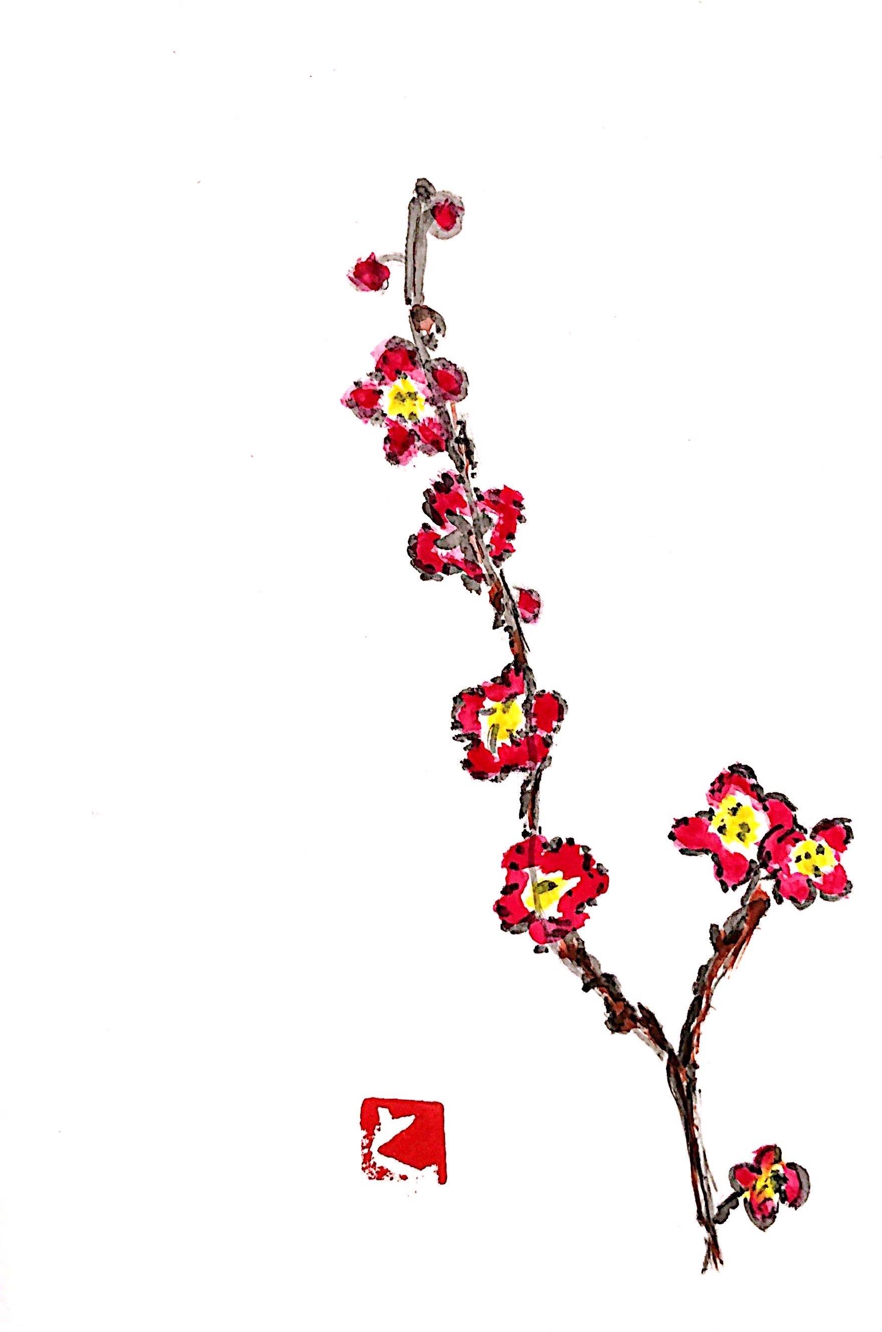 梅の花の年賀状